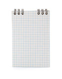 Checked notebook on white background Royalty Free Stock Images