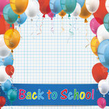 Checked Paper Balloons School Paper Royalty Free Stock Photos