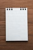 Checked paper of notepad Stock Photography