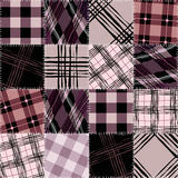 Checked patchwork pattern Stock Images