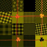 Checked Patrick pattern Royalty Free Stock Photos