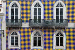 Checked Pattern Facade of a Traditional Building Royalty Free Stock Photography