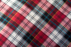 Checked plaid in red, black and white Royalty Free Stock Photography