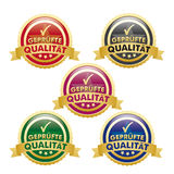 Checked Quality Buttons Royalty Free Stock Photo
