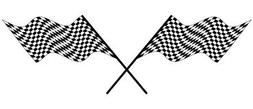 Checked racing flag Stock Images