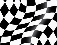 Checked racing flag. Black and white checked racing flag. Vector illustration Royalty Free Stock Photos