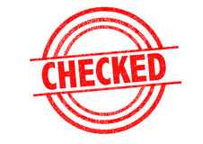 CHECKED Rubber Stamp Stock Photography