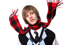 Checked Scarf Royalty Free Stock Photography
