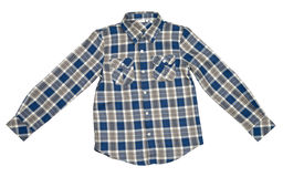 Checked Shirt. Checked colored shirt for boy isolated with clipping path on the white background royalty free stock photography