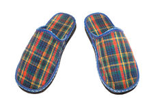 Checked slippers Royalty Free Stock Image