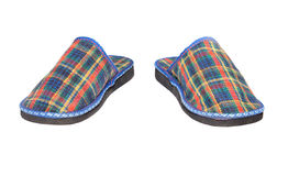 Checked slippers Royalty Free Stock Photos