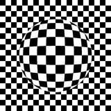 Checked sphere in grid drawing  Royalty Free Stock Image