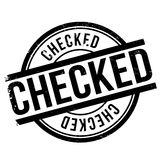 Checked stamp rubber grunge Stock Image
