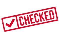 Checked stamp rubber grunge Royalty Free Stock Photography