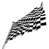 Checked start  flag. Fine 3d image of classic checked start flag Royalty Free Stock Photography