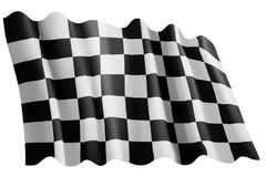 Checked start flag Royalty Free Stock Photo