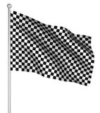 Checked start flag Royalty Free Stock Photos