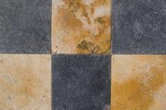 Checked Stone Background Stock Image