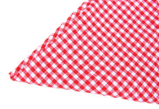Checked tea towel isolated. On white back Royalty Free Stock Image