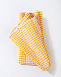 Checked tea towel Stock Photography