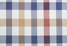 Checked textile vintage background. Checked fabric background.Gingham blue vintage backdrop.Menu textile wallpaper Stock Photos