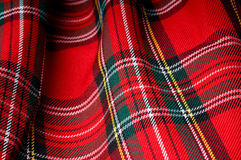 Checked texture fabric. In Scottish style Royalty Free Stock Images
