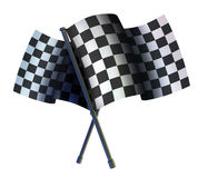 Checked two sport flag Stock Photography
