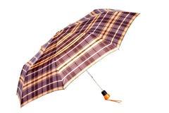 Checked woman umbrella Stock Image