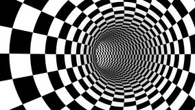 Checker abstract speed motion in highway tunnel for technology. Pattern texture background ,fast moving toward the light, 3d illusion black and white royalty free illustration