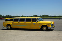 Checker Airbus Taxi Cab Royalty Free Stock Photo