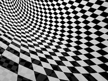 Checker back and white pattern Royalty Free Stock Photos