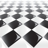 Checker Background Perspective Stock Photo