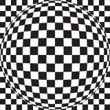 Checker Ball. Black And White Checker Ball Royalty Free Stock Photos