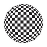 Checker Ball. (with clipping path for easy background removing if needed Royalty Free Stock Photography