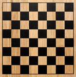 Checker board. Checker or chess board made of wood stock image