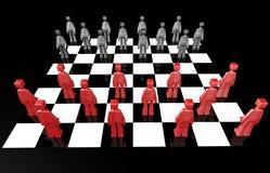 Checker board game concept Stock Photos