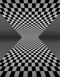 Checker Board In Perspective - Vector Illustration stock illustration