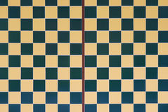 Checker Board. A photo taken on a checkered board wall design Stock Images