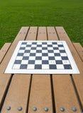 Checker board in a parc Stock Photo