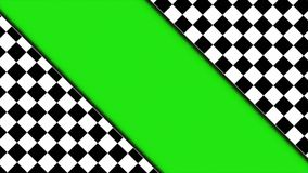 Checker Drzwiowa animacja z zieleń ekranem, rendering, tło, pętla, 4k royalty ilustracja