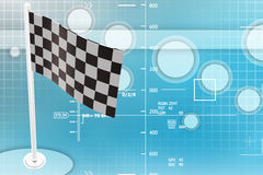 Checker / finish Flag Illustration Stock Photos