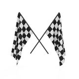 Checker flags Stock Photo