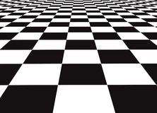 Checker floor. A large black and white checker floor background pattern Royalty Free Stock Photos