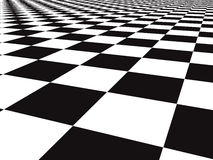 Checker floor. A large black and white checker floor background pattern Stock Images