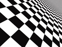 Checker floor. A large black and white checker floor background pattern Stock Photo