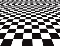 Checker floor. A large black and white checker floor background pattern Royalty Free Stock Photography