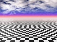 Checker floor Royalty Free Stock Image