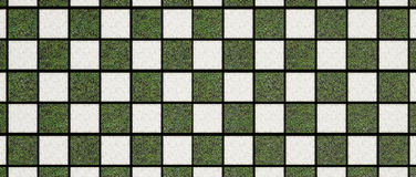 Checker nature pattern. Checker pattern with Gravel and Grass squares stock photography