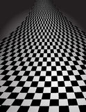 Checker Pattern in perspective - vector illustrati. This is an interesting checker board pattern swirling up and back in perspective - vector illustration Royalty Free Stock Image