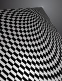 Checker Pattern in perspective - vector illustrati. This is an interesting checker board pattern in perspective - vector illustration Stock Image